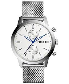 Fossil Men's Chronograph Townsman Stainless Steel Mesh Bracelet Watch 44mm