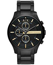 A|X Armani Exchange Men's Chronograph Hampton Black Stainless Steel Bracelet Watch 46mm