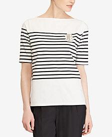 Lauren Ralph Lauren Petite Striped Cotton Top