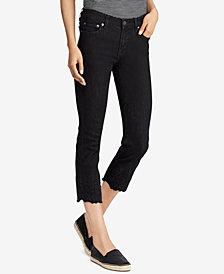 Lauren Ralph Lauren Petite Embroidered Skinny Jeans