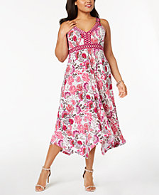 I.N.C. Plus Size Ring-Detail Maxi Dress, Created for Macy's