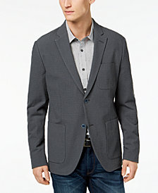 Michael Kors Men's Classic Fit Seersucker Glen Checked Blazer
