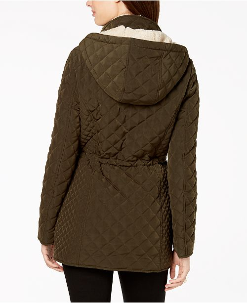 Hooded Moss Anorak Shelli Segal Green by Lined Fleece Laundry x60UXvq