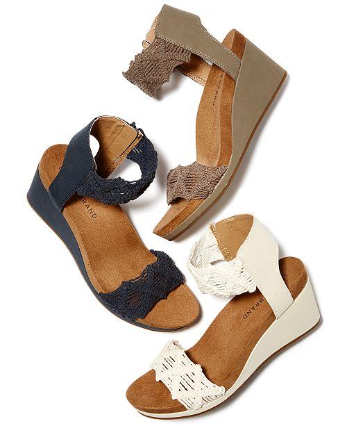 63ac36b29c6c Lucky Brand Women s Kierlo Wedges   Reviews - Sandals   Flip Flops ...