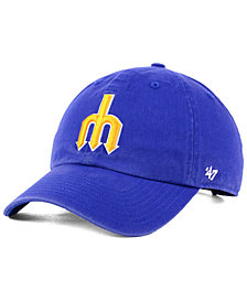 '47 Brand Seattle Mariners Cooperstown CLEAN UP Strapback Cap