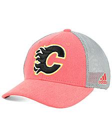 adidas Calgary Flames Geno Flex Stretch Fitted Cap