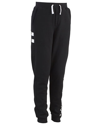 Big Boys Side Stripe Fleece Pants by Calvin Klein