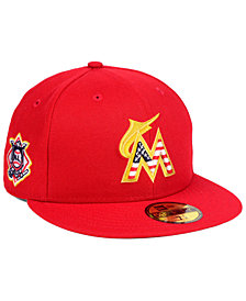 New Era Miami Marlins Stars and Stripes 59FIFTY Fitted Cap