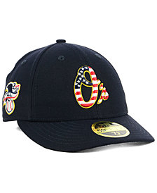 New Era Baltimore Orioles Stars and Stripes Low Profile 59FIFTY Fitted Cap 2018