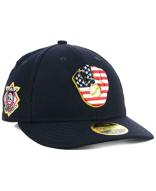 4804089bc5ec5 ... New Era Milwaukee Brewers Stars and Stripes Low Profile 59FIFTY Fitted  Cap 2018 ...