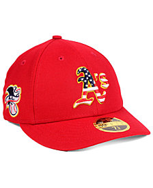 New Era Oakland Athletics Stars and Stripes Low Profile 59FIFTY Fitted Cap 2018