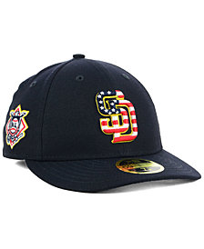 New Era San Diego Padres Stars and Stripes Low Profile 59FIFTY Fitted Cap 2018
