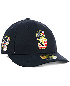 New Era Seattle Mariners Stars and Stripes Low Profile 59FIFTY Fitted Cap 2018