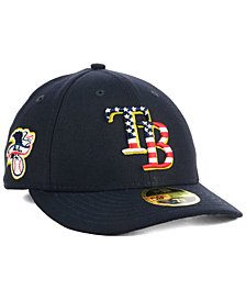 New Era Tampa Bay Rays Stars and Stripes Low Profile 59FIFTY Fitted Cap 2018
