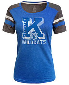 J America Women's Kentucky Wildcats Tri-Blend Sleeve Stripe T-Shirt