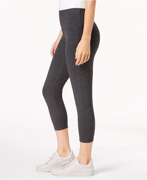 Style Capri Created Co for amp; Leggings Waist Macy's Heather Charcoal Comfort rxrUCq