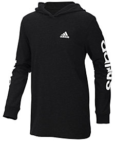 adidas Big Boys Logo-Print Cotton Hoodie