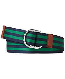 Polo Ralph Lauren Men's Striped Grosgrain Belt