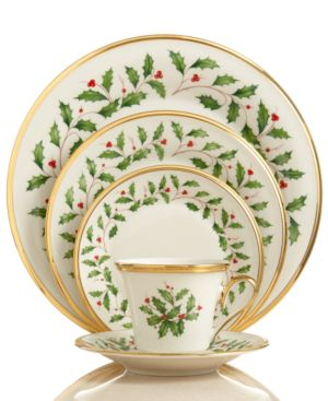 Lenox Dinnerware, Holiday 5 Piece Place Setting
