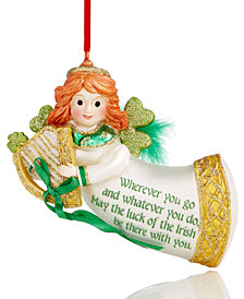 Holiday Lane Irish Flying Angel Ornament, Created for Macy's