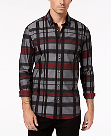 Alfani Men's Regular Fit Kells Plaid Shirt, Created for Macy's