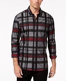 Alfani Men's Regular Fit Kells Plaid Shirt, Created for Macy's