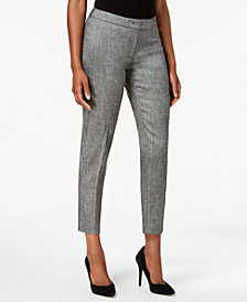 Anne Klein Extended-Tab Straight Pants