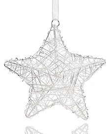 Snow Daze Wire Star Ornament Created for Macy's
