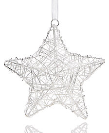 Holiday Lane Wire Star Ornament, Created for Macy's