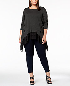 Love Scarlett Plus Size Ruffled-Hem Tunic