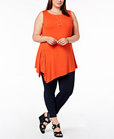 Joseph A Plus Size Asymmetrical Sleeveless Top