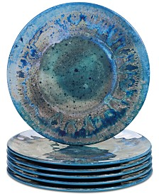 Certified International Radiance Teal Salad Plates, Set of 6