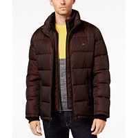 Calvin Klein Mens Full-Zip Puffer Coat