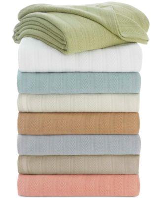 Cotton Textured Chevron Woven Twin Blanket