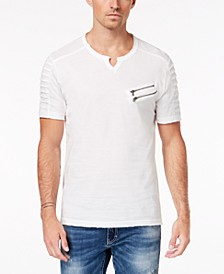 INC Men's Split-Neck Zipper T-Shirt, Created for Macy's