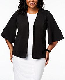 Nine West Plus Size Flounce-Sleeve Blazer
