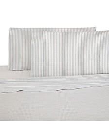 Printed Brushed Cotton 3-Pc. Twin Sheet Set