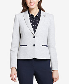 Tommy Hilfiger Two-Button Sweatshirt Blazer