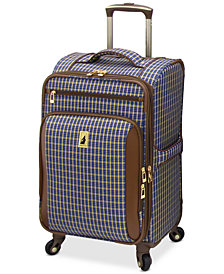 "London Fog Kensington 21"" Softside Carry On Spinner Suitcase"