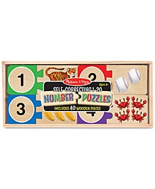 Melissa & Doug Wooden Self-Correcting 1-20 Number Puzzles
