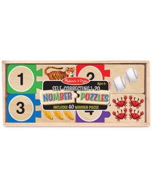 Melissa  Doug Wooden SelfCorrecting 120 Number Puzzles