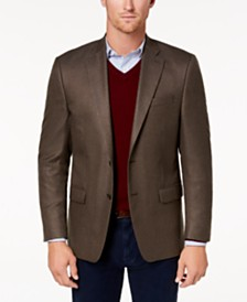 Lauren Ralph Lauren Men's Classic-Fit Ultra-Flex Stretch Brown Multi-Tic Sport Coat
