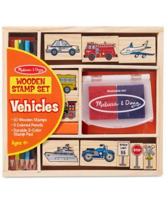 Melissa and Doug Kids Toys, Kids Car Blocks Stamp Set