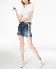 Hudson Jeans The Viper Two-Tone Denim Skirt