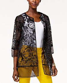 Alfani Printed Mesh Jacket, Created for Macy's
