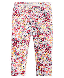 First Impressions Baby Girls Ditsy Floral-Print Leggings, Created for Macy's