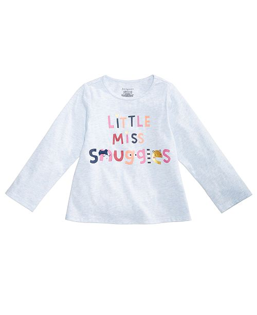 efbe84fdf First Impressions Baby Girls Graphic-Print Cotton T-Shirt