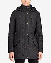 85887a170a224 Lauren Ralph Lauren Faux-Leather-Trim Quilted Anorak Coat