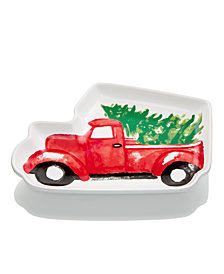 Martha Stewart Collection Figural Truck Appetizer Plate, Created for Macy's