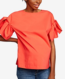Maternity Tie-Sleeve Top